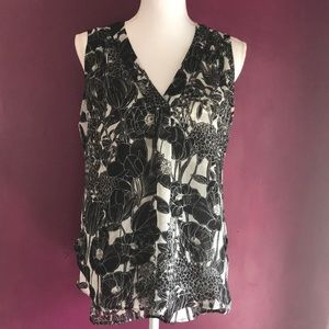 Tommy Hilfiger black and white floral top